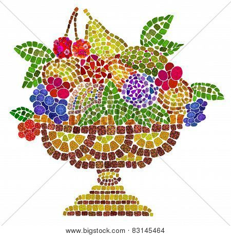 Ceramic Bowl With  Fruits