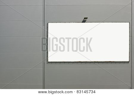 Corrugated Wall  With Advertizing