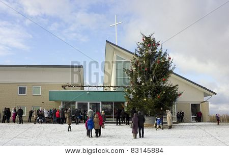 People Came To A Day Christmas Prayer