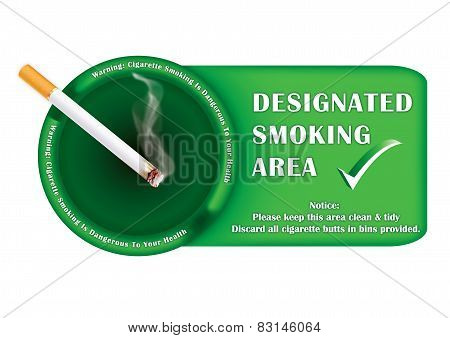 Smoking allowed sign for print;