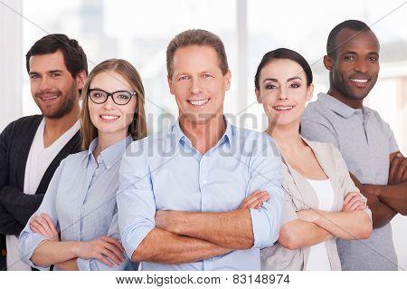 Confident Business Team.