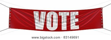 Vote Banner (clipping path included)
