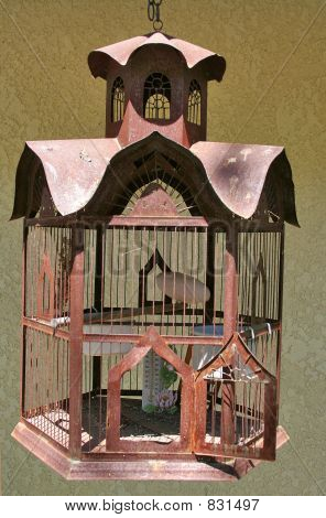 Old-fashioned birdcage