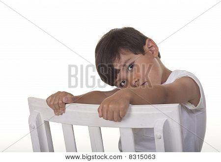 Bashful young boy.
