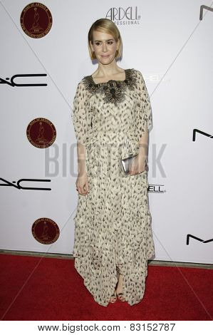 LOS ANGELES - FEB 14: Sarah Paulson at the Make-Up Artists & Hair Stylists Guild Awards at the Paramount Theater on February 14, 2015 in Los Angeles, CA