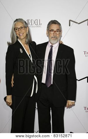 LOS ANGELES - FEB 14: Deborah Nadoolman Landis, John Landis at the Make-Up Artists & Hair Stylists Guild Awards at the Paramount Theater on February 14, 2015 in Los Angeles, CA