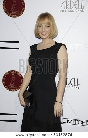 LOS ANGELES - FEB 14: Wendi McLendon-Covey at the Make-Up Artists & Hair Stylists Guild Awards at the Paramount Theater on February 14, 2015 in Los Angeles, CA