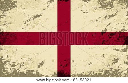 English flag. Grunge background. Vector illustration