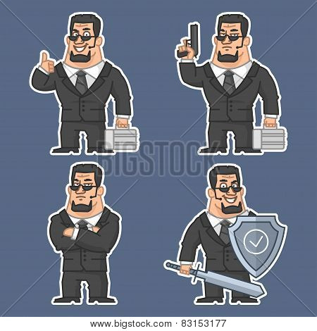 Guard in various poses stickers 2
