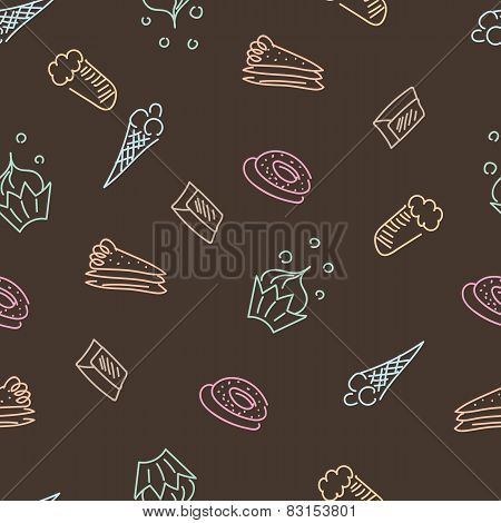 Brown pattern with sweets