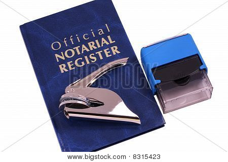 Notary Stamp And Embosser