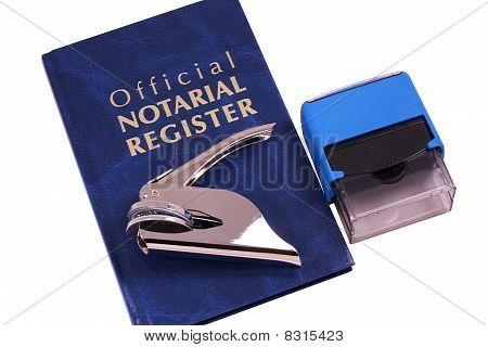 Impresora y sello de notario