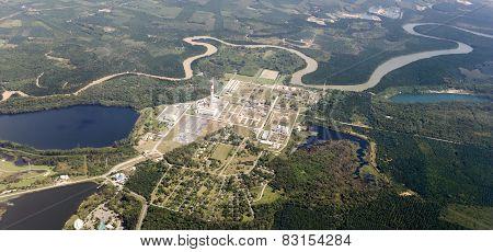 Aerial View Of Petrol Industria