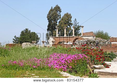 Ruins Of St. Johns Basilica In The Spring, Selcuk, Ephesus, Turkey