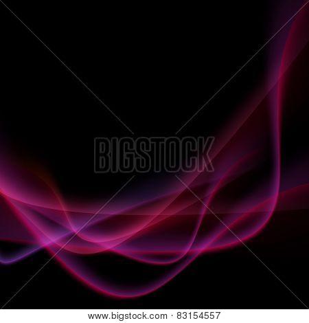 Bright Neon Swoosh Speed Wave Background