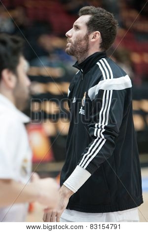 VALENCIA, SPAIN - FEBRUARY 15: Rudy during Spanish League match between Valencia Basket Club and Real Madrid at Fonteta Stadium on February 15, 2015 in Valencia, Spain