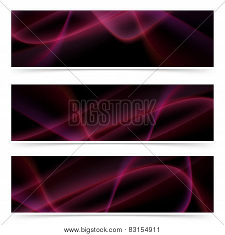 Neon Glow Swoosh Line Header Collection
