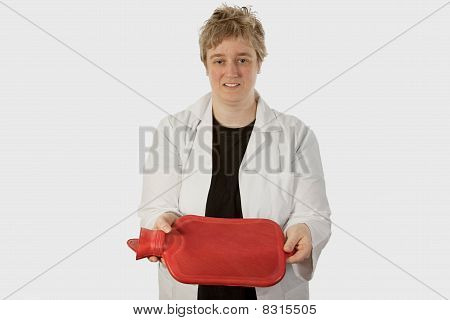Lady Doctor With Hot Water Bottle