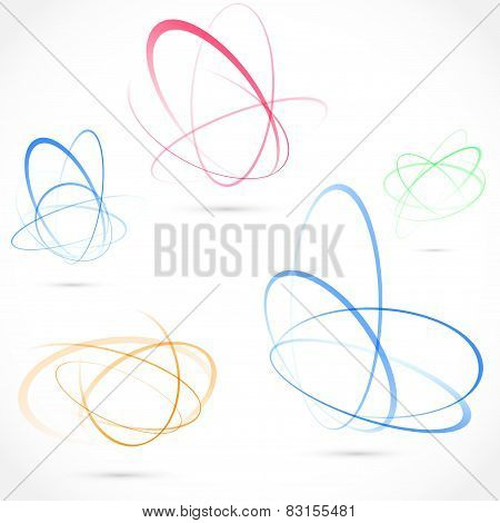 Bright Swirl Atom Orbit Element Collection