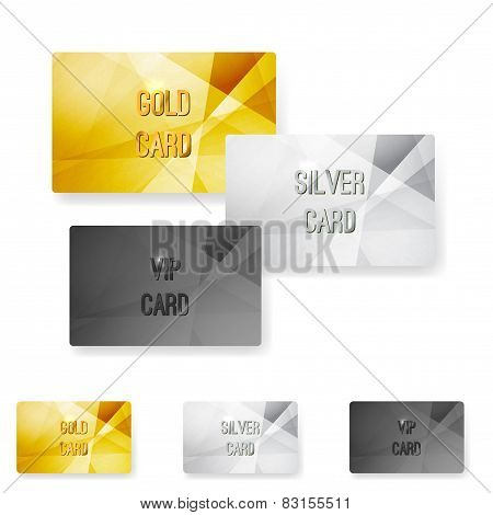 Club Member Metal Modern Cards Template