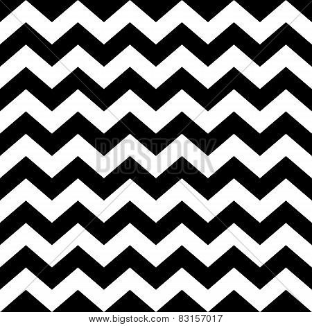 Seamless Zig Zag Pattern In Black And White