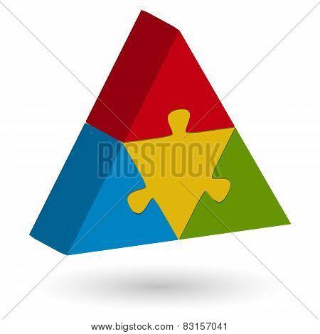 3D Puzzle Pyramid