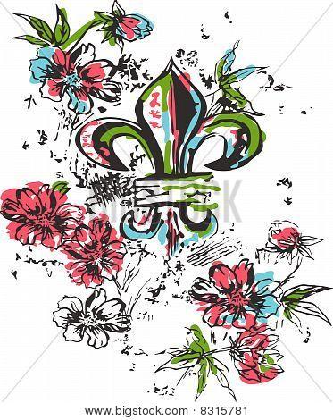 fleur de lis illustration