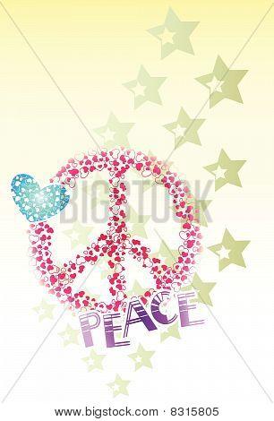 Heart Star Peace design