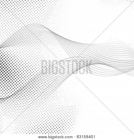 Abstract Smooth Swoosh Line Dotted Noise Background