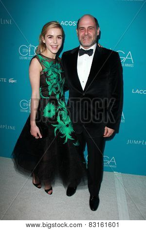 LOS ANGELES - FEB 17:  Kiernan Shipka, Matthew Weiner at the 17th Costume Designers Guild Awards at a Beverly Hilton Hotel on February 17, 2015 in Beverly Hills, CA