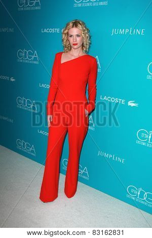 LOS ANGELES - FEB 17:  January Jones at the 17th Costume Designers Guild Awards at a Beverly Hilton Hotel on February 17, 2015 in Beverly Hills, CA