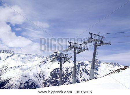 Ropeway At Ski Resort