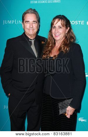 LOS ANGELES - FEB 17:  Beau Bridges, Wendy Bridges at the 17th Costume Designers Guild Awards at a Beverly Hilton Hotel on February 17, 2015 in Beverly Hills, CA