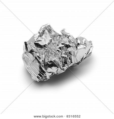 Crinkled metal foil