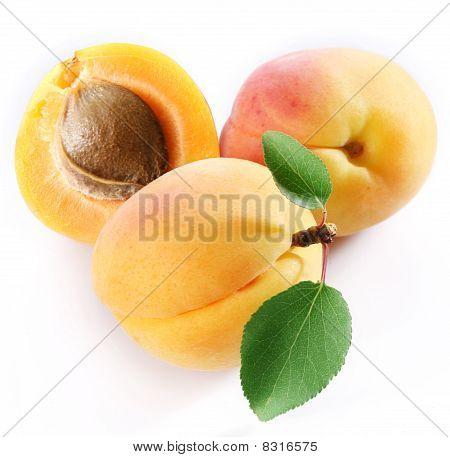 Three apricots.