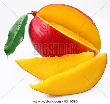 Mango with sections.