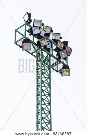 Big Spotlights Lighting Tower Isolated
