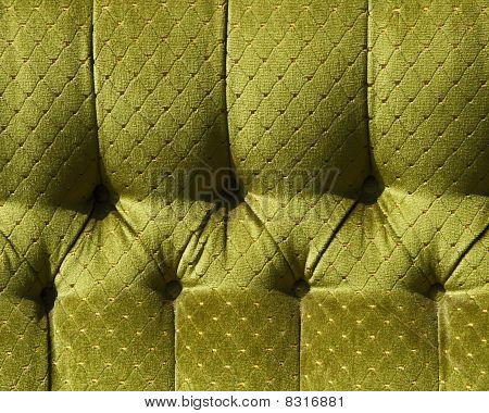 Pattern Of An Old Light-green Upholstery Fabric