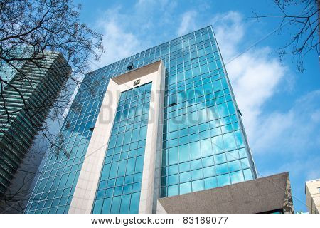 Baku - MARCH 1, 2014: International Bank of Azerbaijan office on March 1 in Azerbaijan, Baku. IBA is the leading bank in Azerbaijan