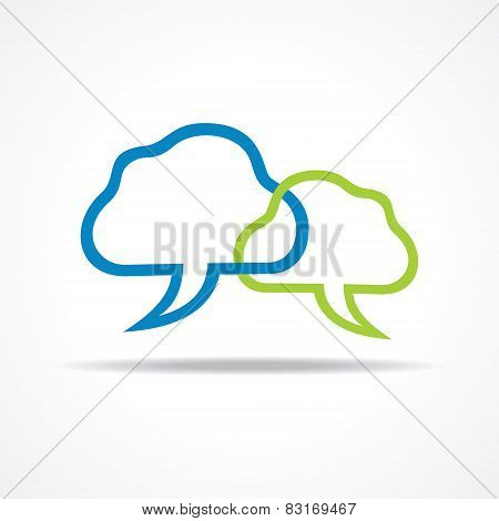 Blue and green Chat Icon stock vector