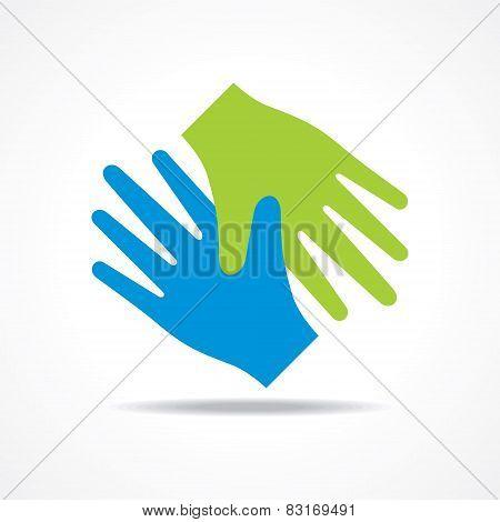 Businessman handshake icon stock vector