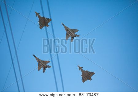 Shot Of Nato Baltic Air Police Planes