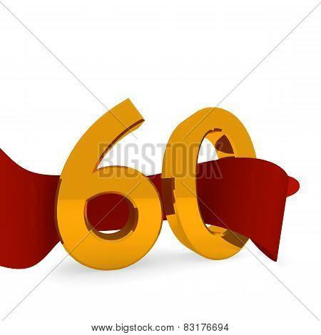 Golden 60 On White