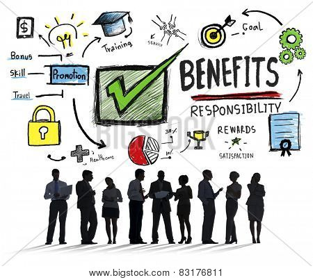 Benefits Gain Profit Earning Income Business Communication Concept