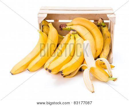 Bananas In Wooden Crate