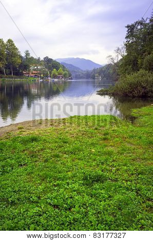 Adda river shores, Lombardy (Northern Italy). Color photo