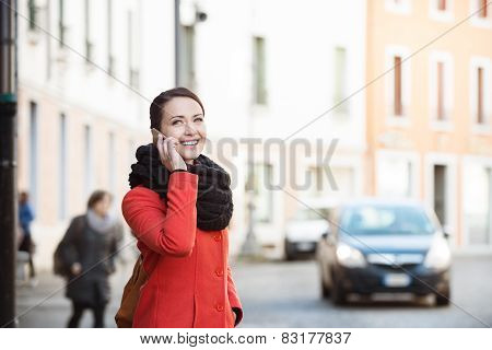 Confident Woman Walking In The City