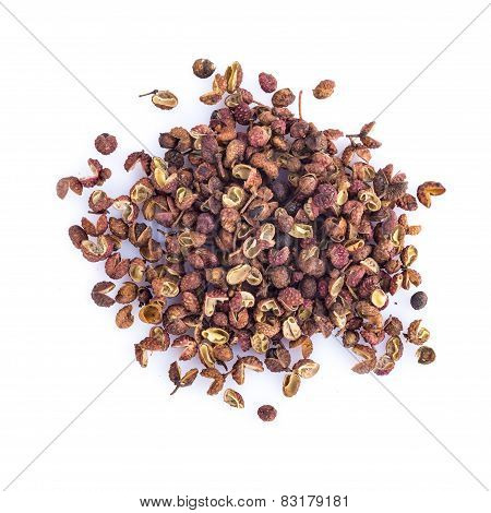 Sichuan Pepper Isolated On A White Background