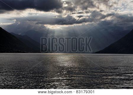 sunset,Dobrota,Kotor Bay,Montenegro