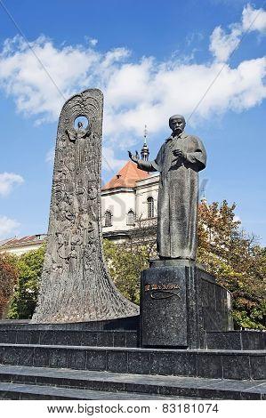 Monument To Ukrainian Poet Taras Shevchenko